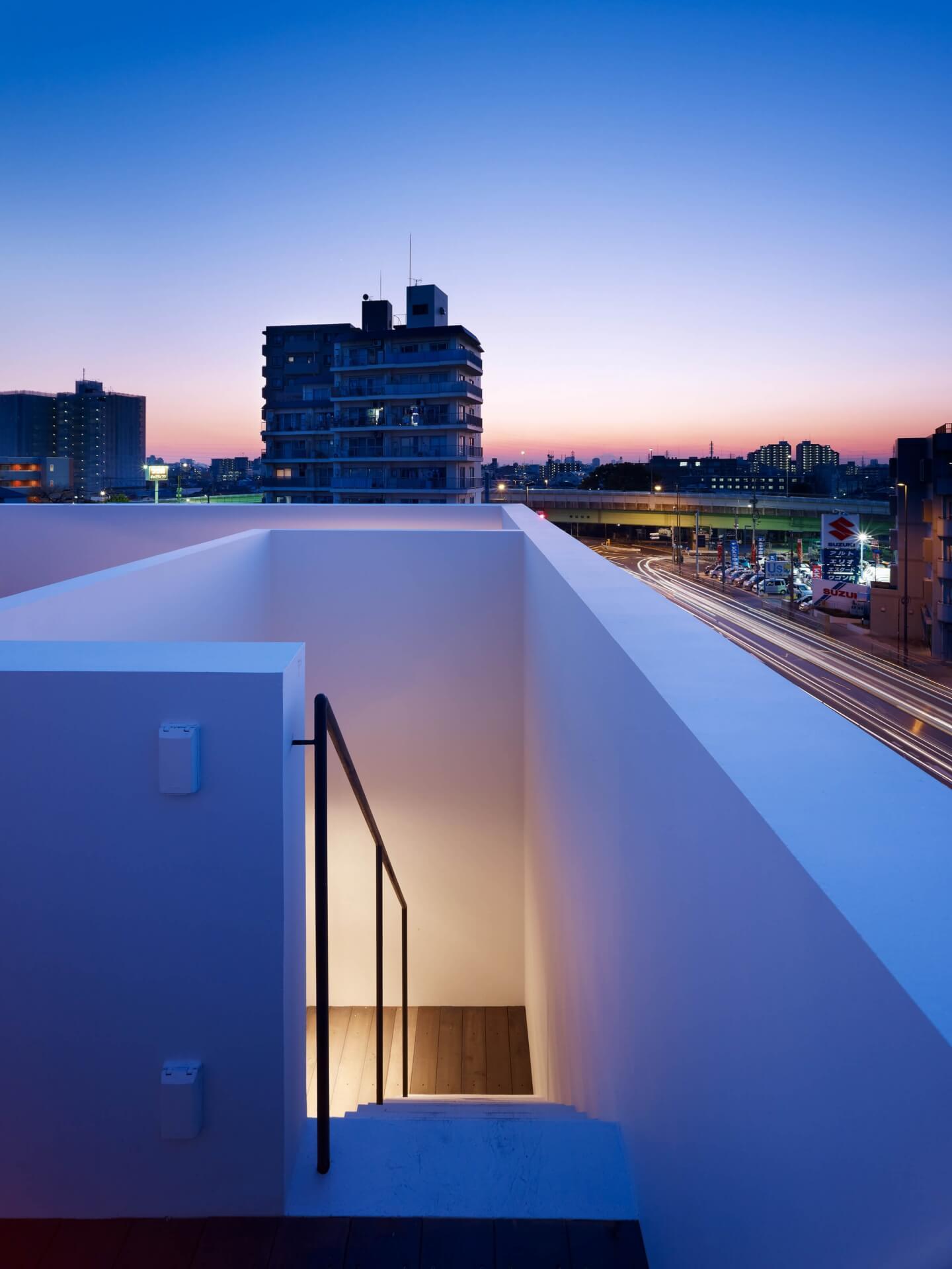 青戸の住宅の屋上