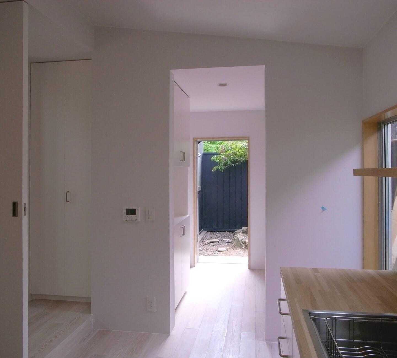 篠山の住宅の裏玄関