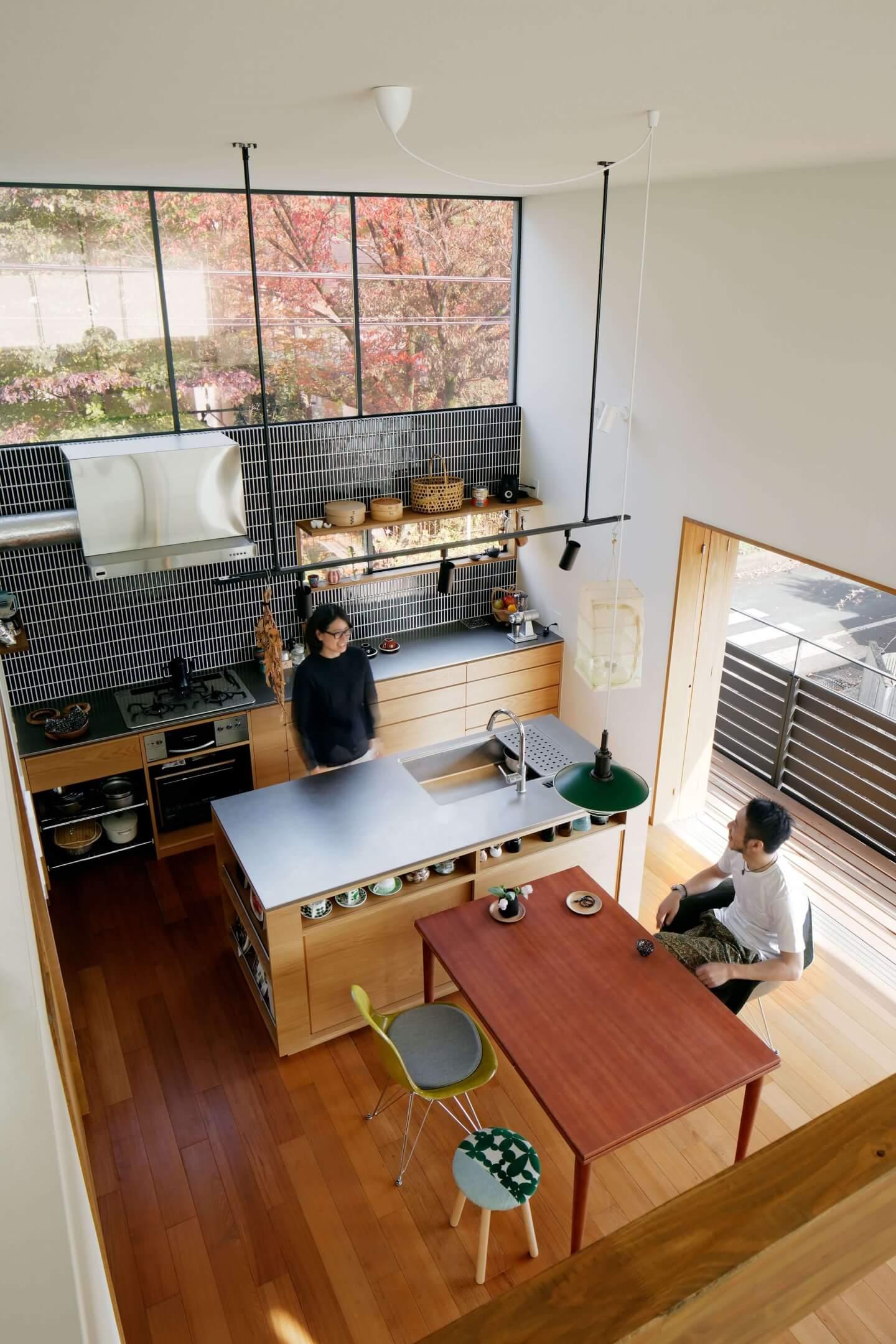 桜町の住宅のダイニングキッチン