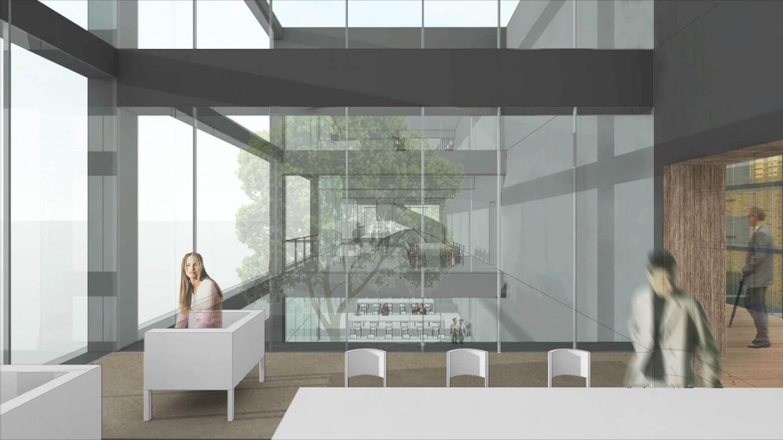 (仮称)駅前図書館等基本設計・実施設計業務委託公募プロポーザル 応募案の室内イメージ
