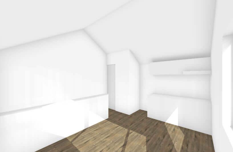 北方の長屋の内観イメージ
