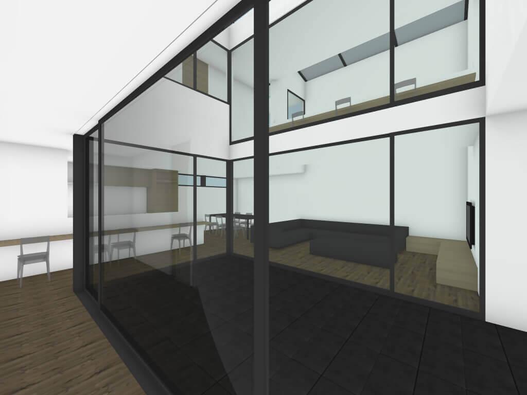 中町の住宅1階廊下イメージ