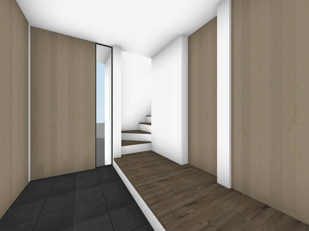 下丸子の住宅の玄関イメージ