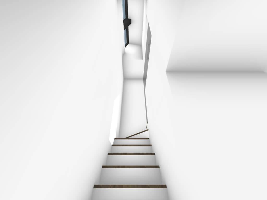 下丸子の住宅の階段1階イメージ