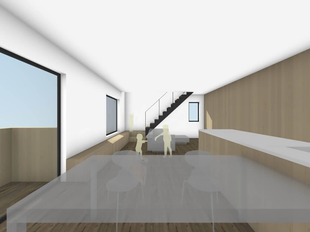 下丸子の住宅のキッチンイメージ