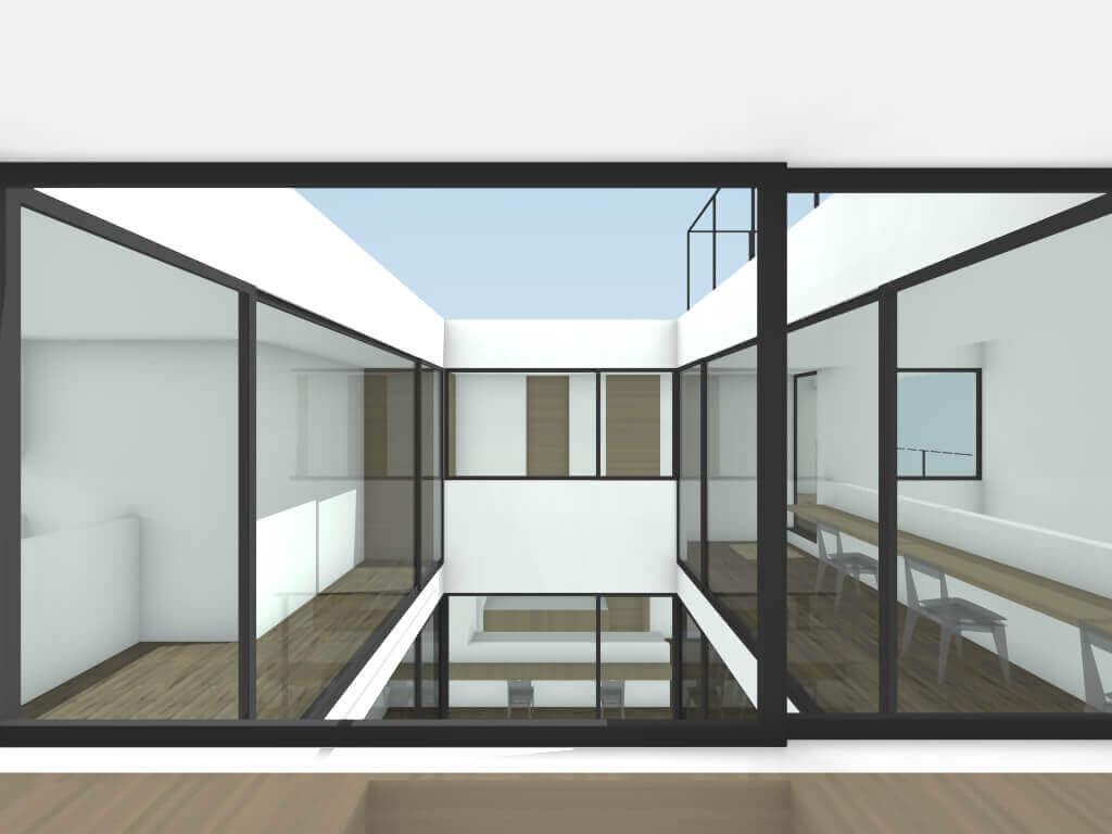 中町の住宅2階ライブラリーイメージ
