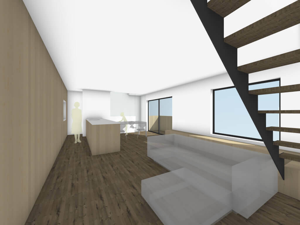 下丸子の住宅のリビングイメージ