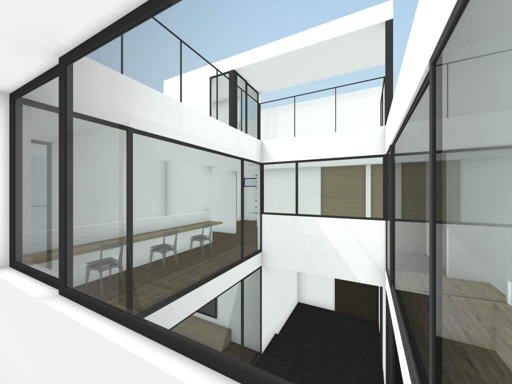 中町の住宅2階廊下イメージ