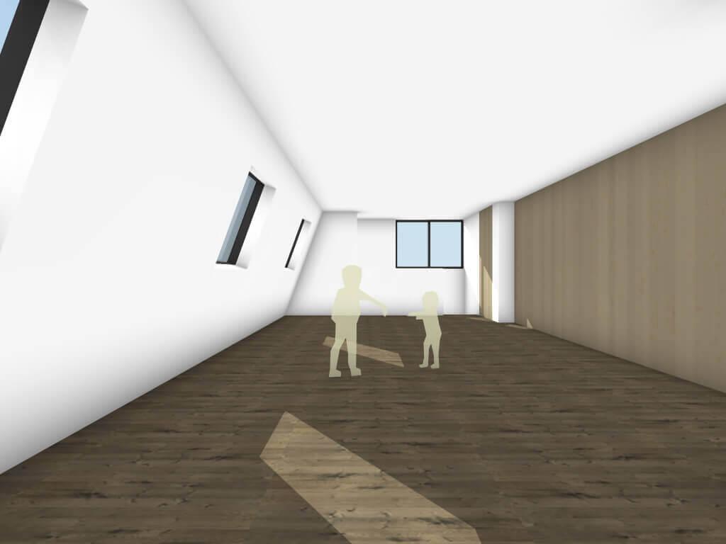 下丸子の住宅の3階個室イメージ