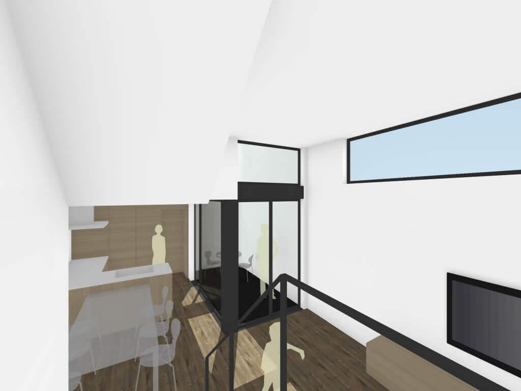調布の住宅階段イメージ