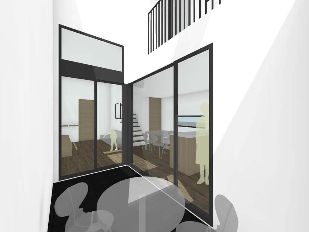 調布の住宅中庭イメージ