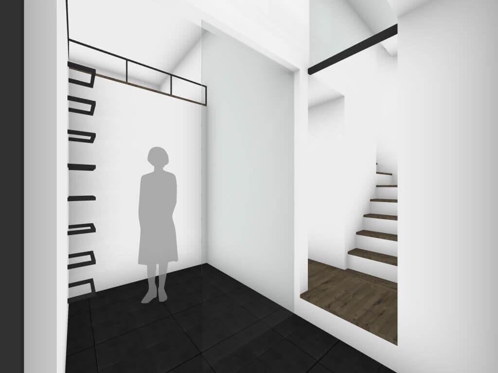 富士見台の住宅玄関イメージ