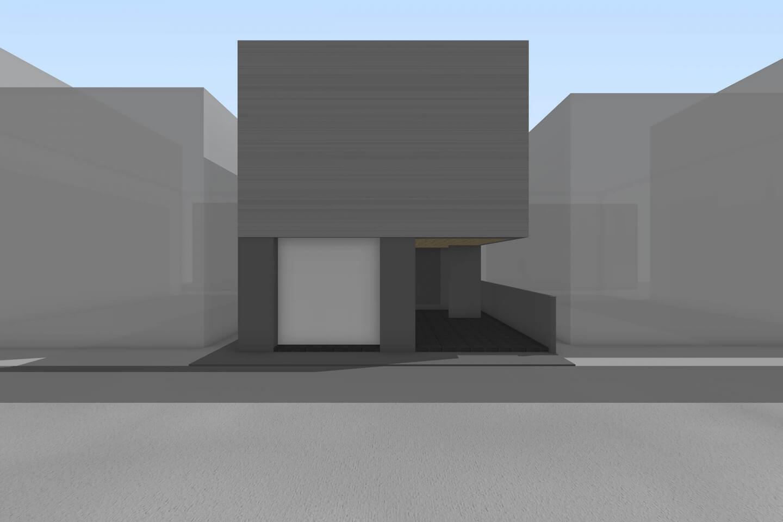栄町の住宅北立面イメージ