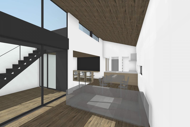 栄町の住宅、大きな窓が印象的なLDKイメージ