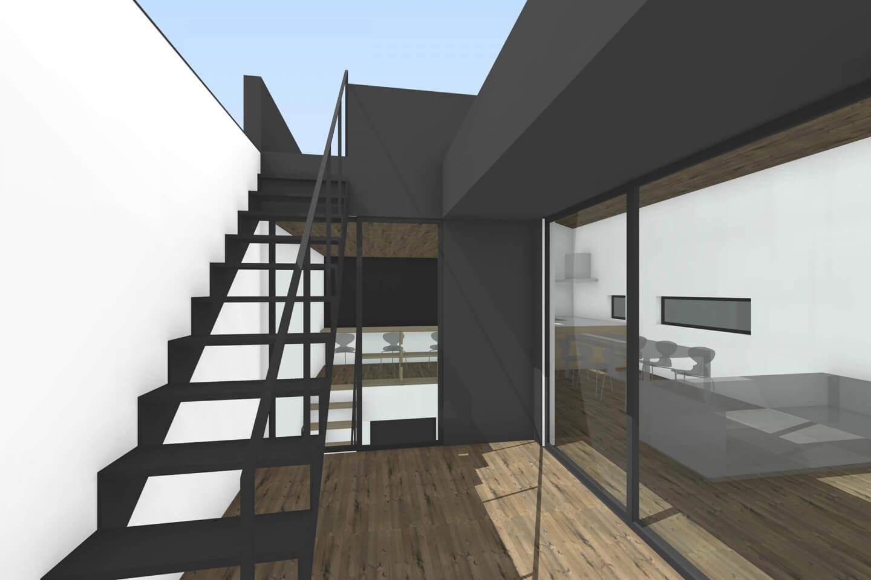 栄町の住宅テラスからのイメージ