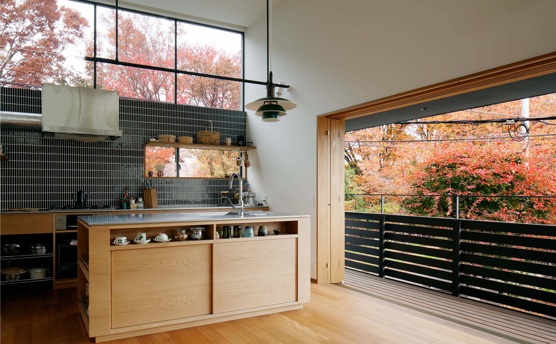 桜町の住宅のキッチン
