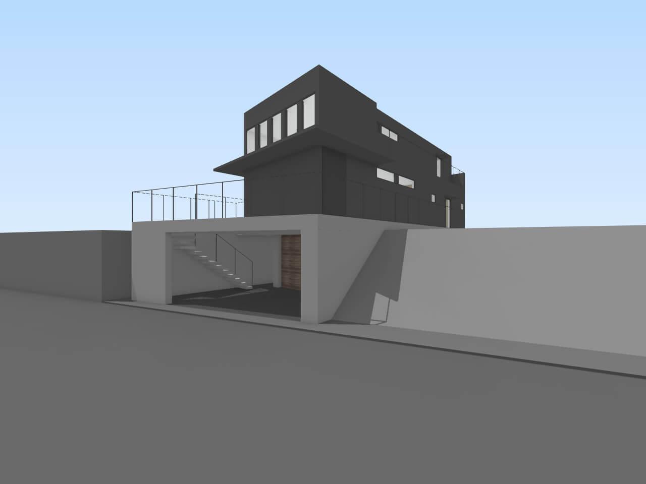 瀬田の住宅の外観B案