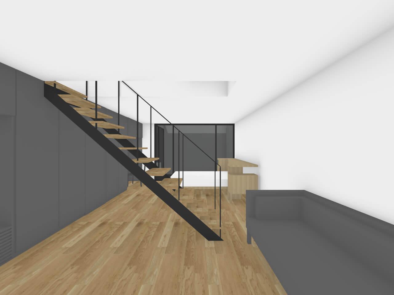 瀬田の住宅地下1階リビング