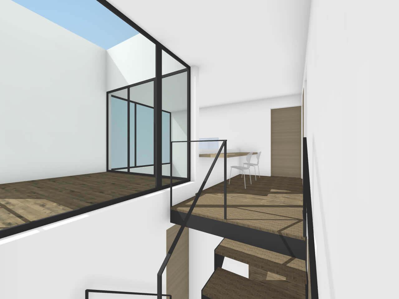 中山の住宅の階段