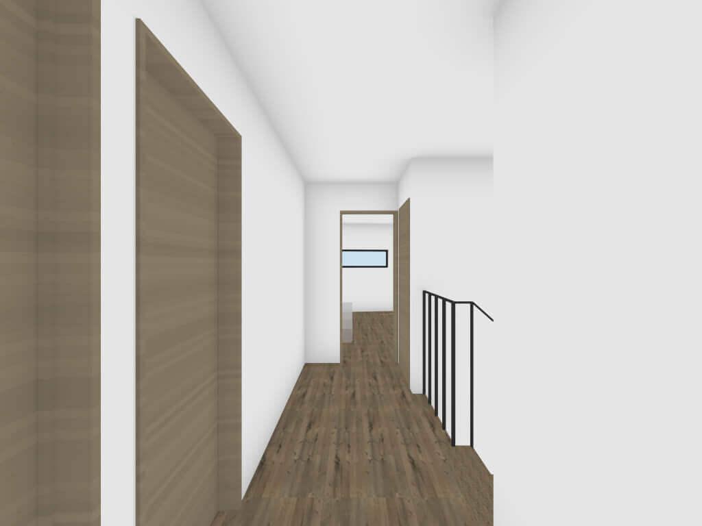 深沢の住宅の廊下