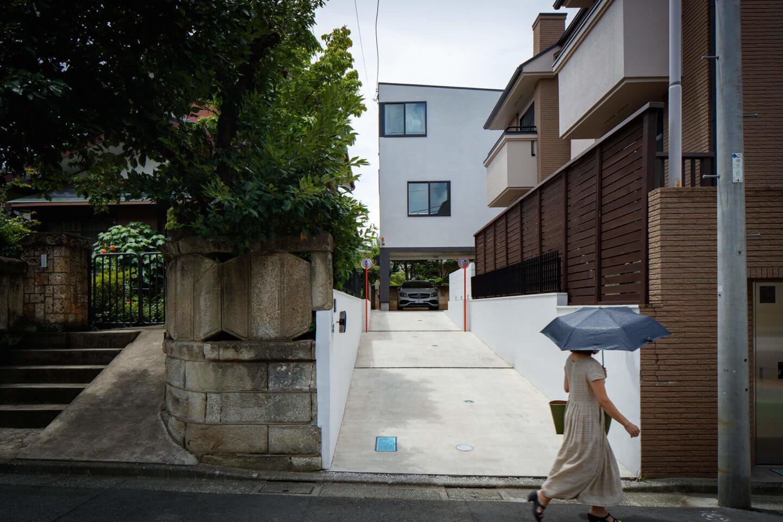 上祖師谷の住宅の入口