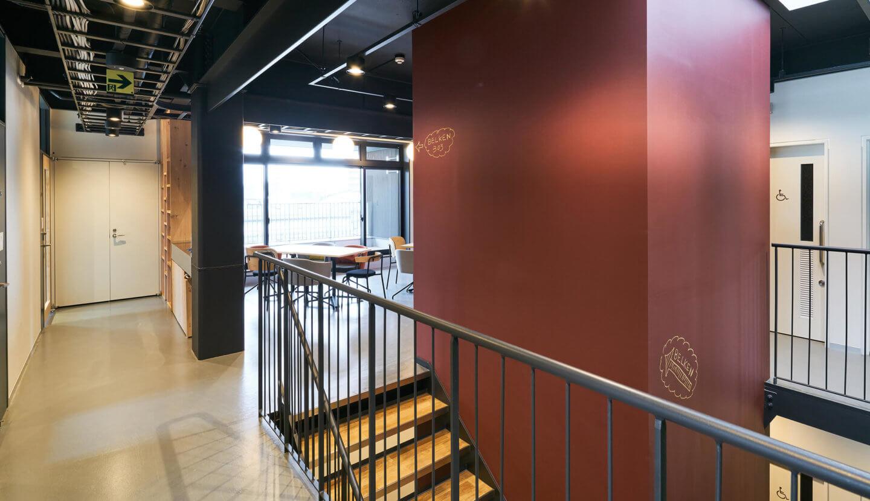 シビックイノベーション拠点・スナバ shiojiri2階廊下
